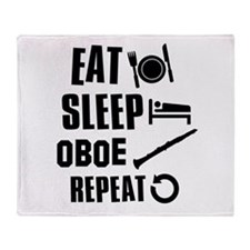 Eat Sleep Oboe Throw Blanket
