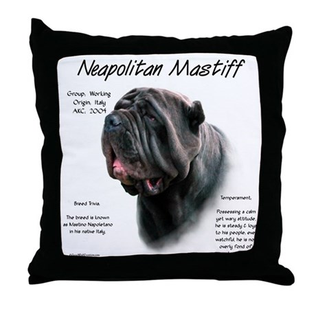 Black Neo Throw Pillow