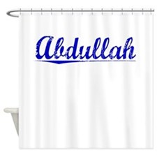 Abdullah, Blue, Aged Shower Curtain