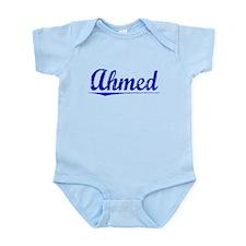 Ahmed, Blue, Aged Infant Bodysuit