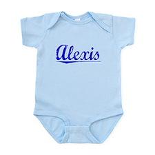 Alexis, Blue, Aged Infant Bodysuit