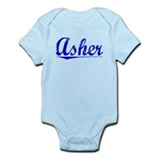 Asher, Blue, Aged Infant Bodysuit