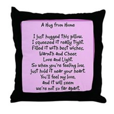 Hugs from Home Throw Pillow