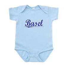 Basel, Blue, Aged Infant Bodysuit