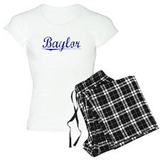 Baylor, Blue, Aged Pajamas