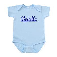 Beadle, Blue, Aged Infant Bodysuit