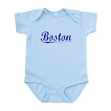 Boston, Blue, Aged Infant Bodysuit