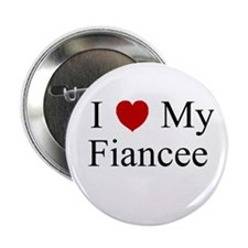 I (heart) My Fiancee Button