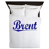 Brent, Blue, Aged Queen Duvet