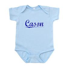 Cason, Blue, Aged Infant Bodysuit