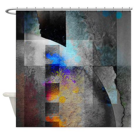 Tin Industrial Chic Shower Curtain by rebeccakorpita