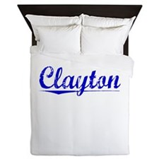 Clayton, Blue, Aged Queen Duvet
