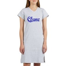 Clune, Blue, Aged Women's Nightshirt