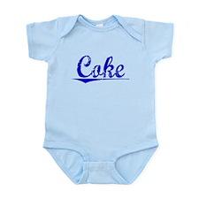Coke, Blue, Aged Infant Bodysuit