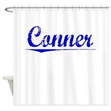 Conner, Blue, Aged Shower Curtain