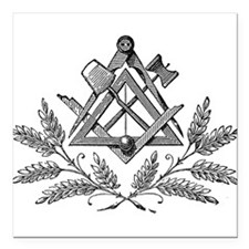 "Masonic Working Tools Square Car Magnet 3"" x 3"""