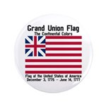 "Grand Union Flag 3.5"" Button"
