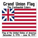 Grand Union Flag Square Car Magnet 3