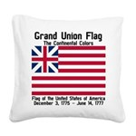 Grand Union Flag Square Canvas Pillow