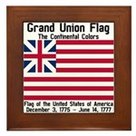 Grand Union Flag Framed Tile
