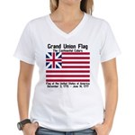 Grand Union Flag Women's V-Neck T-Shirt