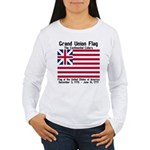 Grand Union Flag Women's Long Sleeve T-Shirt
