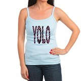 YOLO pink zebra stripes Ladies Top