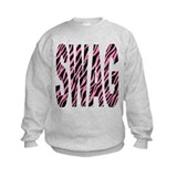 SWAG pink zebra stripes Sweatshirt