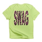 SWAG pink zebra stripes Infant T-Shirt