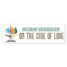 UU On the Side of Love Bumper Sticker