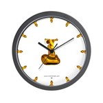 Blown Gold 1 Wall Clock