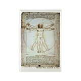 Funny Vitruvian man Rectangle Magnet