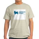 "American Eskimo ""One Cool Dog Ash Grey T-Shirt"