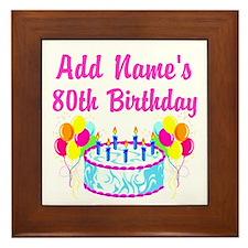 HAPPY 80TH BIRTHDAY Framed Tile