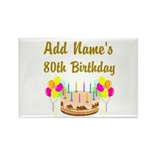 HAPPY 80TH BIRTHDAY Rectangle Magnet