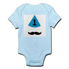 first birthday mustache Infant Bodysuit