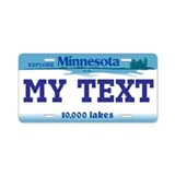 Minnesota - 10,000 lakes license plate replica
