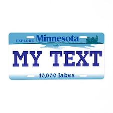 Minnesota - 10,000 lakes license plate replica