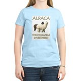 Alpaca: The Huggable Investme Women's Pink T-Shirt