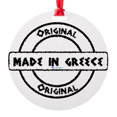 Made in Greece Round Ornament