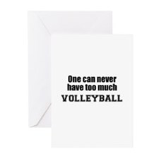 Never Too Much VOLLEYBALL Greeting Cards (Package