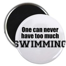"""Never Too Much SWIMMING 2.25"""" Magnet (100 pack)"""
