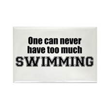 Never Too Much SWIMMING Rectangle Magnet