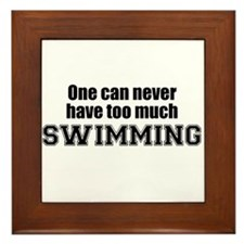 Never Too Much SWIMMING Framed Tile