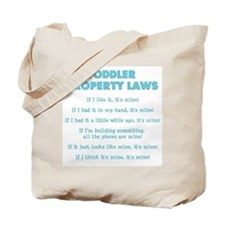 Toddler Property Laws Tote Bag