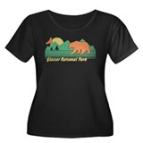 Glacier National Park Women's Plus Size Scoop Neck