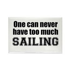 Never Too Much SAILING Rectangle Magnet (10 pack)