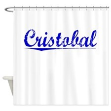 Cristobal, Blue, Aged Shower Curtain