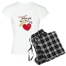 Women's Bride to Be Heart Personalised Pyjamas