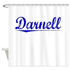Darnell, Blue, Aged Shower Curtain
